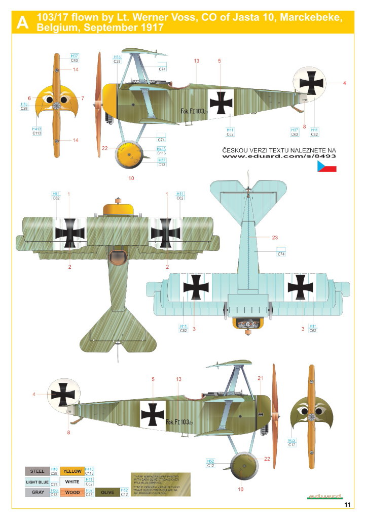 Eduard_Fokker_F.1_28 Fokker F.1 - Eduard WEEKEND  1/48 --- #8493