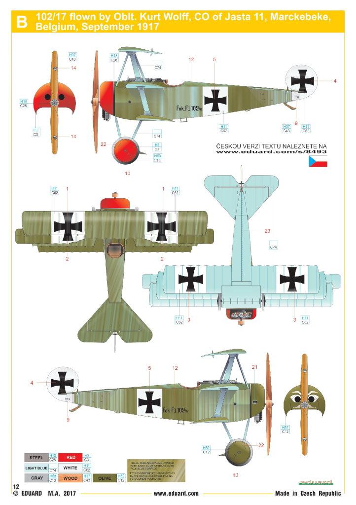 Eduard_Fokker_F.1_29 Fokker F.1 - Eduard WEEKEND  1/48 --- #8493