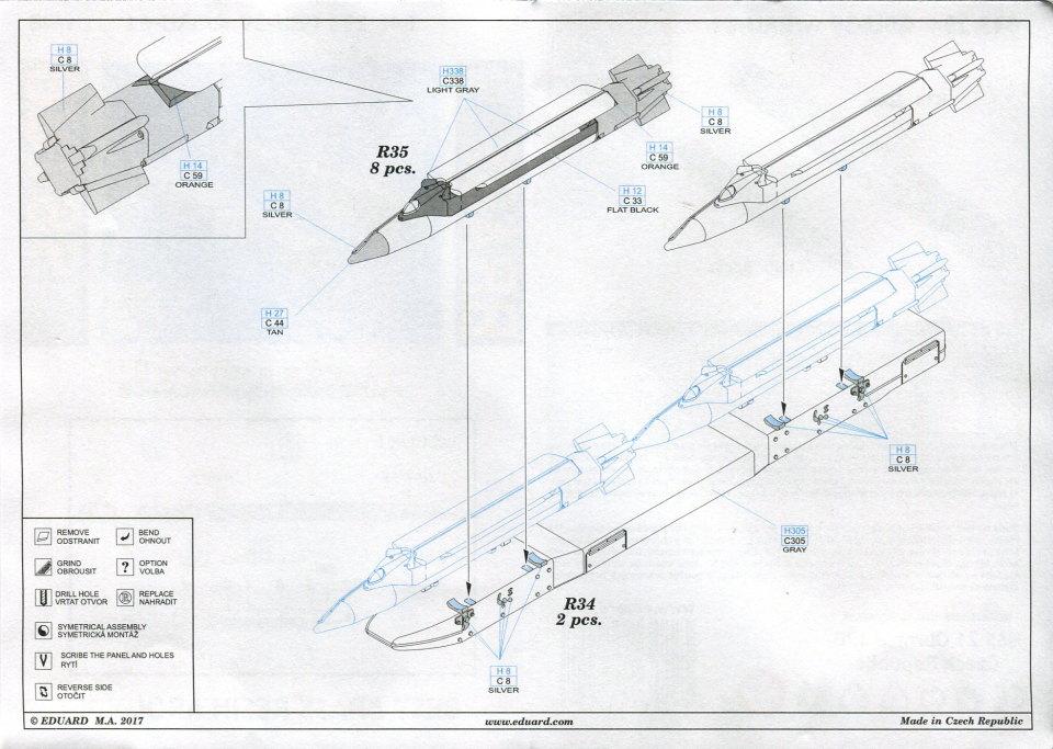 Eduard_GBU-39_10 GBU-39 (präzisionsgelenkte Bombe) - Eduard BRASSIN 1/48 --- 648 294