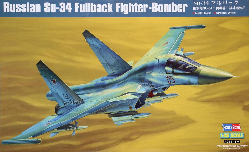 HobbyBoss_Su-34_001 Su-34 Fullback Fighter-Bomber - Hobby Boss 1/48  ---  #81756