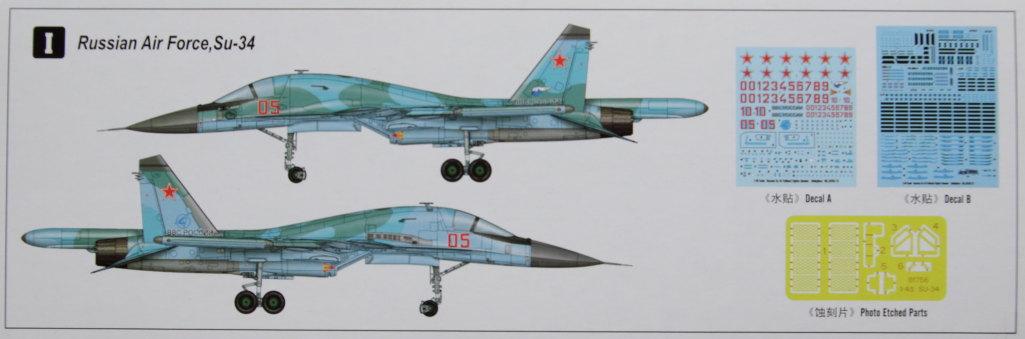 HobbyBoss_Su-34_002 Su-34 Fullback Fighter-Bomber - Hobby Boss 1/48  ---  #81756