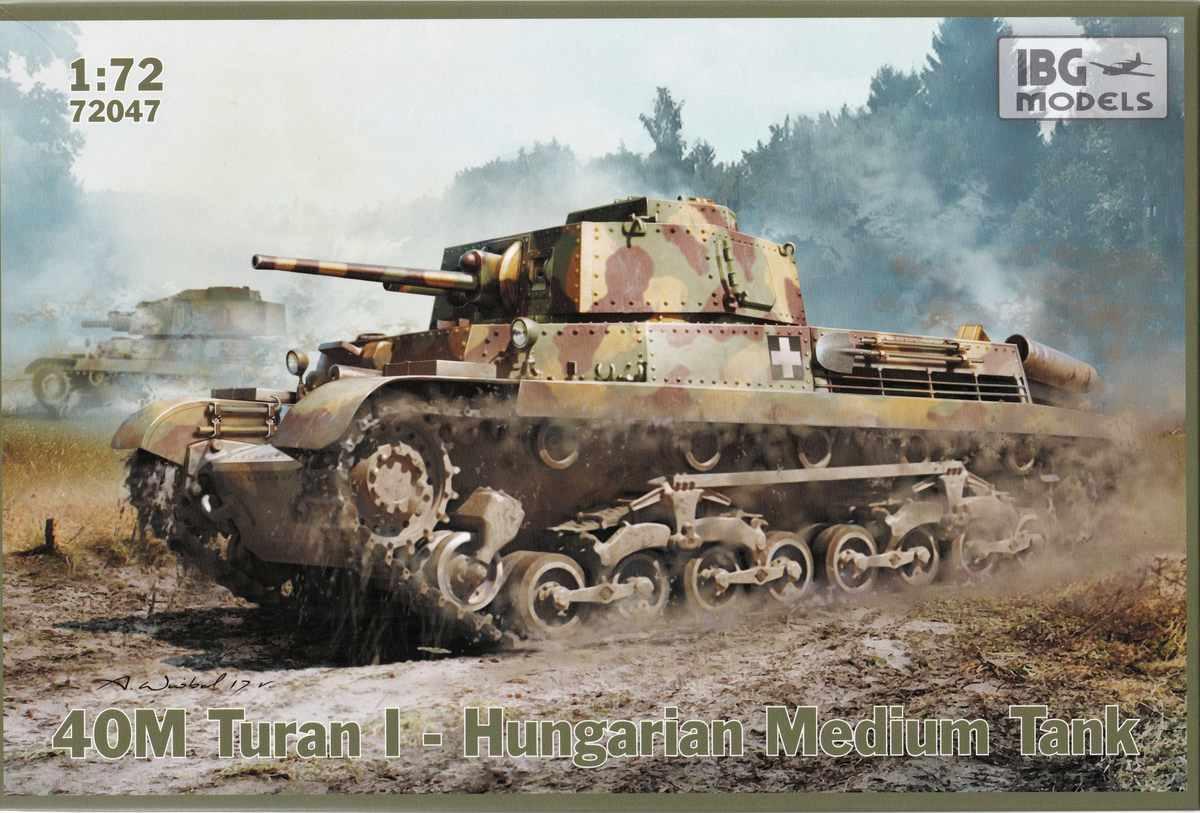 IBG-72047-40M-Turan-I-26 ungarischer Panzer 40M Turan I von IBG in 1:72 (72047)