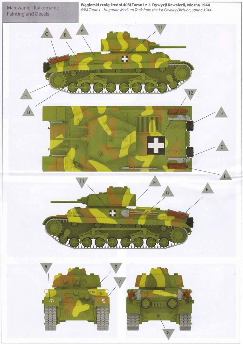 IBG-72047-40M-Turan-I-30 ungarischer Panzer 40M Turan I von IBG in 1:72 (72047)