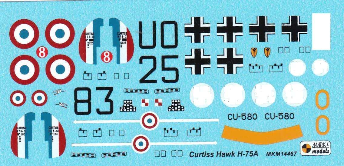 Mark-I-Models-MKM-14467-Curtiss-H-75-Frankreich-Finnland-Luftwaffe-14 Curtiss H-75 in 1:144 von Mark I Models ( MKM 14467)