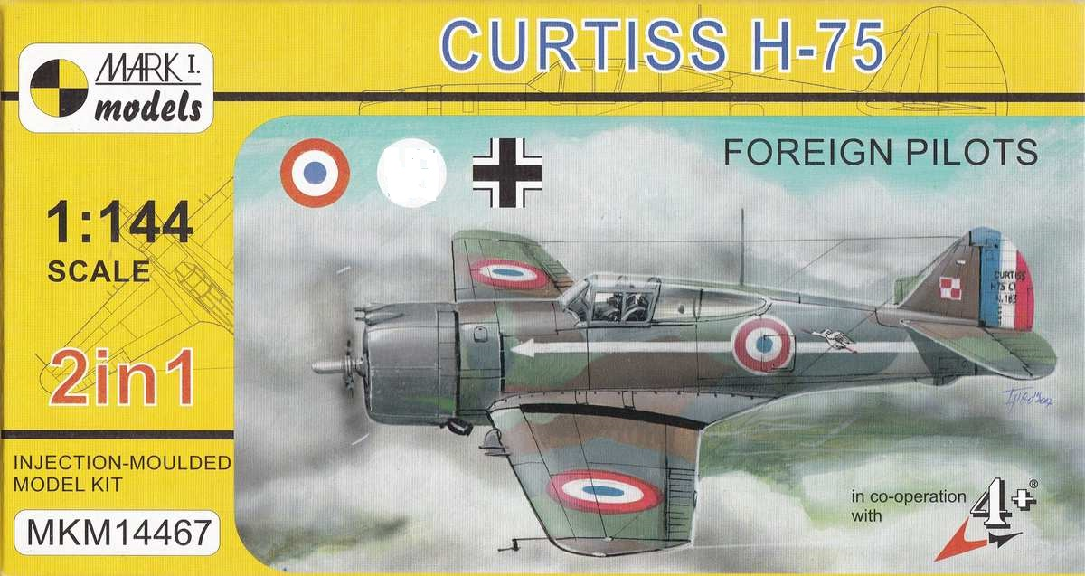 Mark-I-Models-MKM-14467-Curtiss-H-75-Frankreich-Finnland-Luftwaffe-8 Curtiss H-75 in 1:144 von Mark I Models ( MKM 14467)