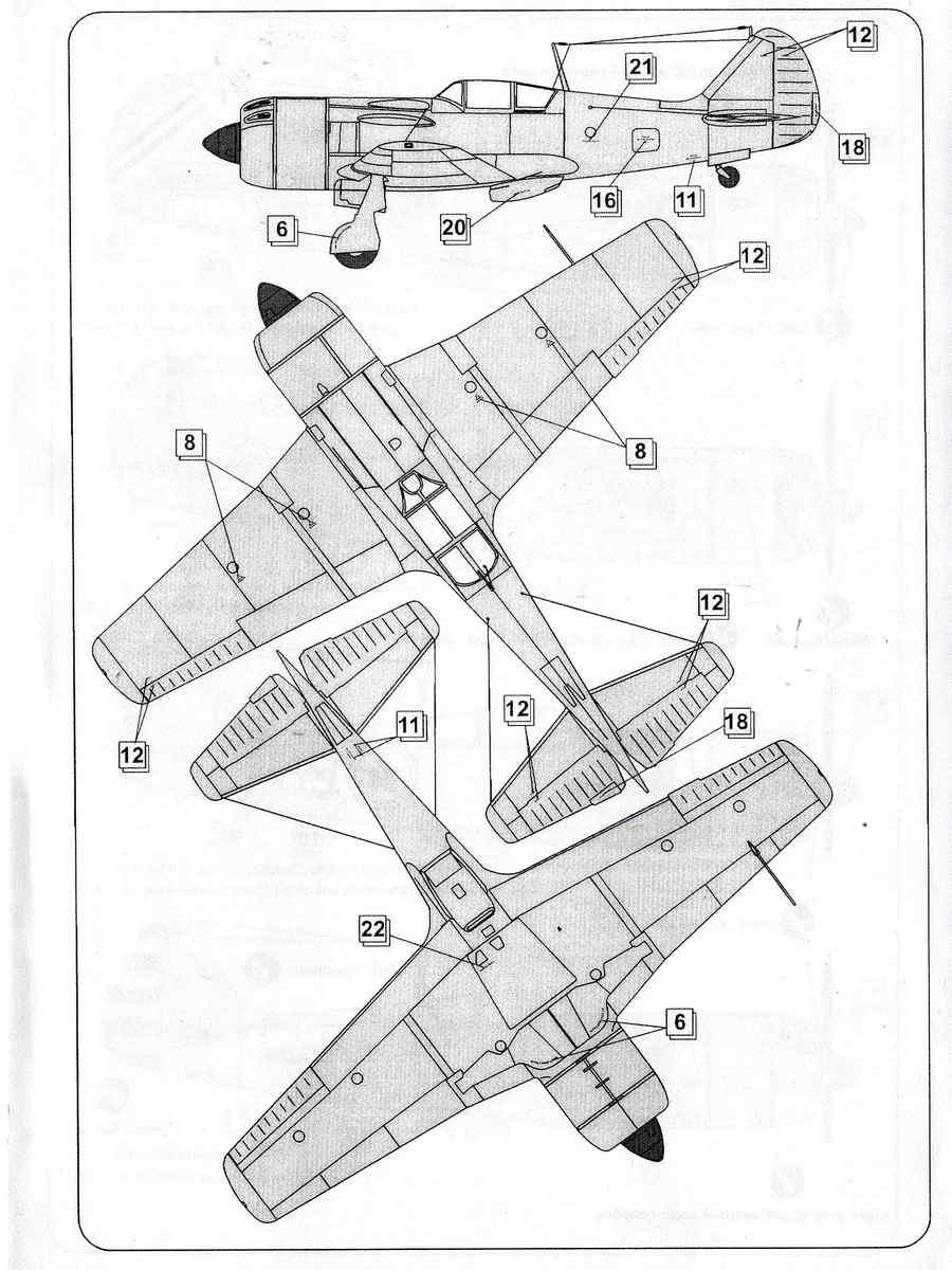 MikroMir-48005-La-9-39 Lawotschkin La-9 von MikroMir 48005