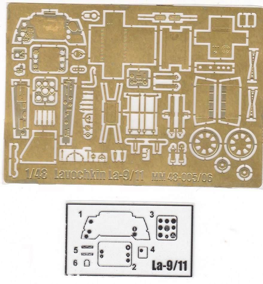 MikroMir-48005-La-9-45 Lawotschkin La-9 von MikroMir 48005
