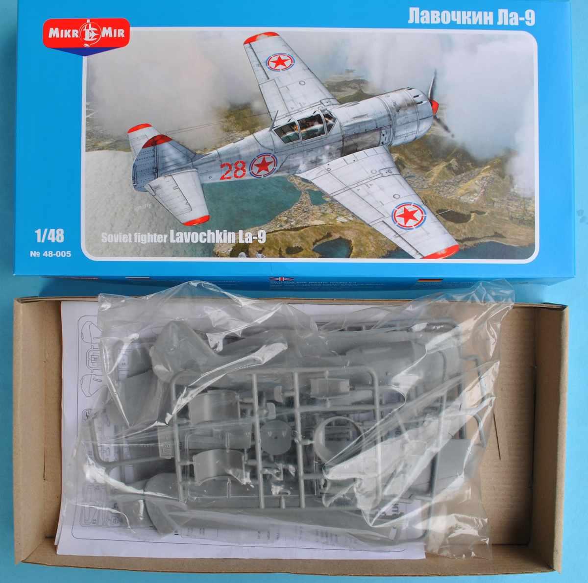 MikroMir-48005-La-9-47 Lawotschkin La-9 von MikroMir 48005