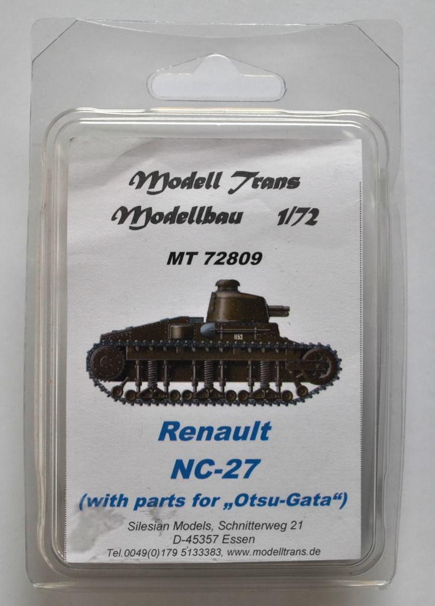 Modell-Trans-MT-72809-Renault-NC-27-Otsu-Gata-1 Renault NC-27 und Otsu-Gata in 1:72 von ModellTrans # 72809