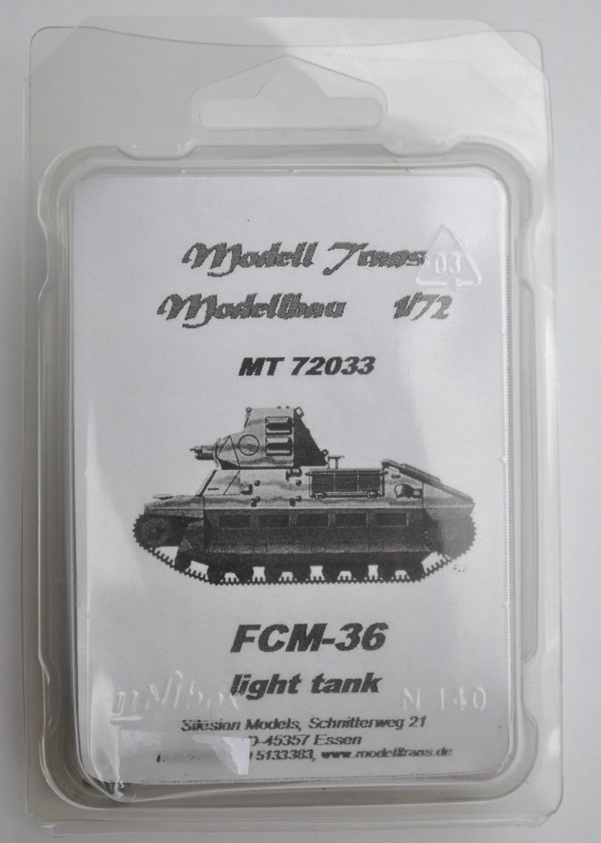 ModellTrans-MT-72033-FCM-36-11 französischer Panzer FCM 36 von ModellTrans 1:72