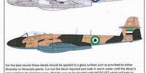 Gloster Meteor F.8 Collection Part 1 von XTRADECAL Artikelnummer  X 48158