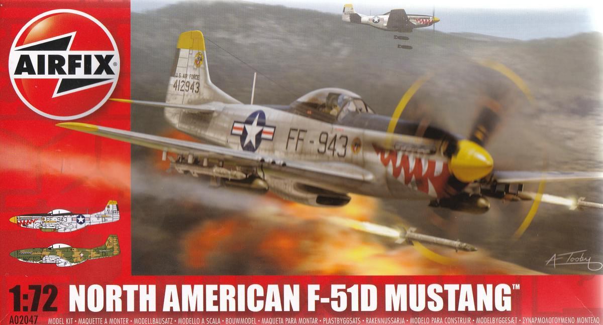 Airfix-A02047-F-51D-Mustang-1 F-51D Mustang in 1:72 von Airfix A02047