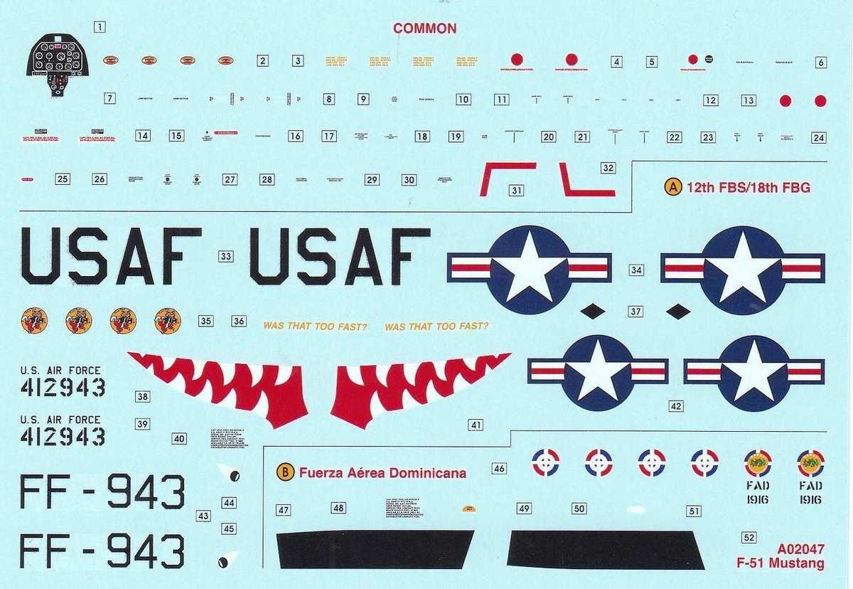 Airfix-A02047-F-51D-Mustang-10 F-51D Mustang in 1:72 von Airfix A02047