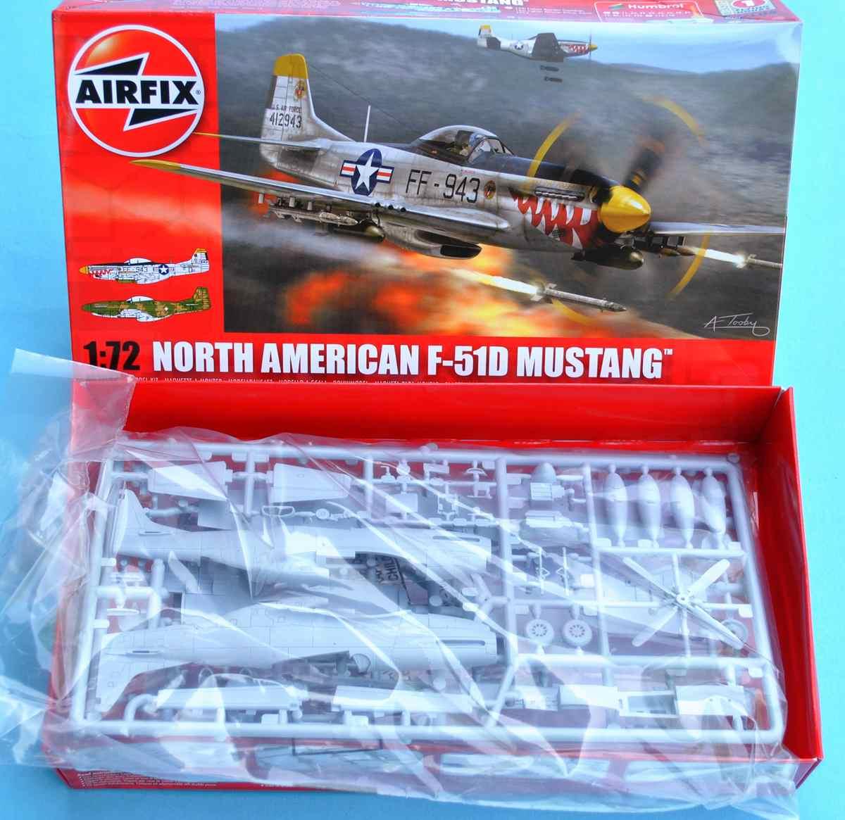 Airfix-A02047-F-51D-Mustang-11 F-51D Mustang in 1:72 von Airfix A02047