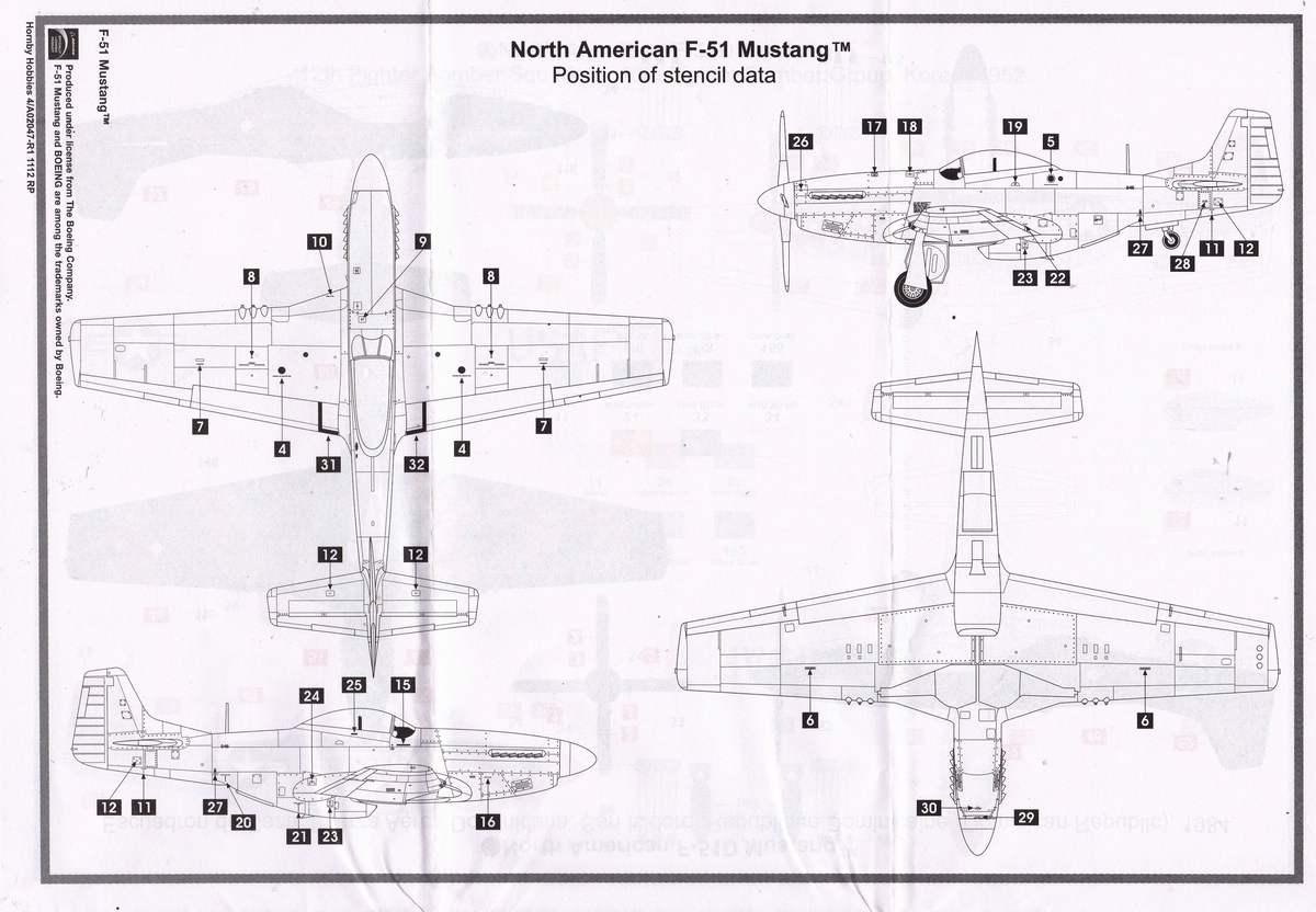 Airfix-A02047-F-51D-Mustang-9 F-51D Mustang in 1:72 von Airfix A02047