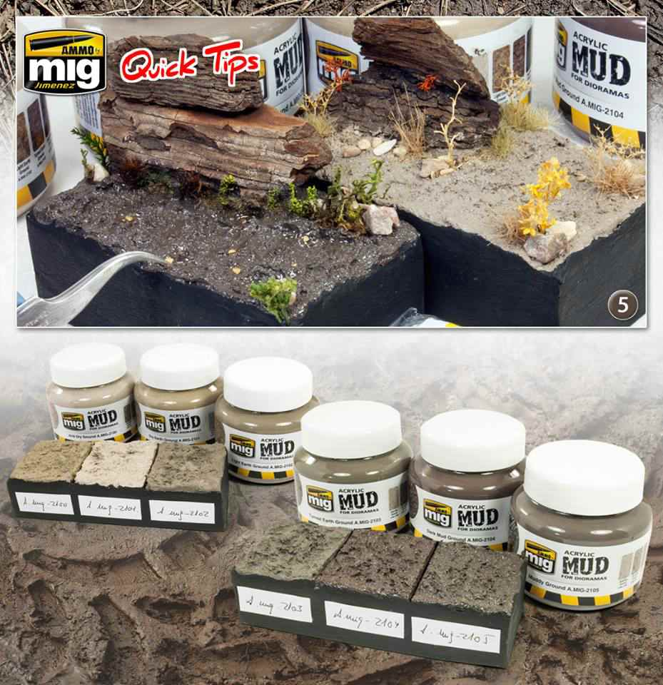Ammo-by-Mig-Acrylic-Mud-for-dioramas-1 Acrylic Mud for dioramas - ein neuer Quicktip von Ammo by Mig