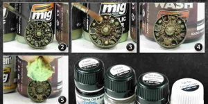 Caked Soil and grease Effects on wheels Ammo by Mig Quicktip