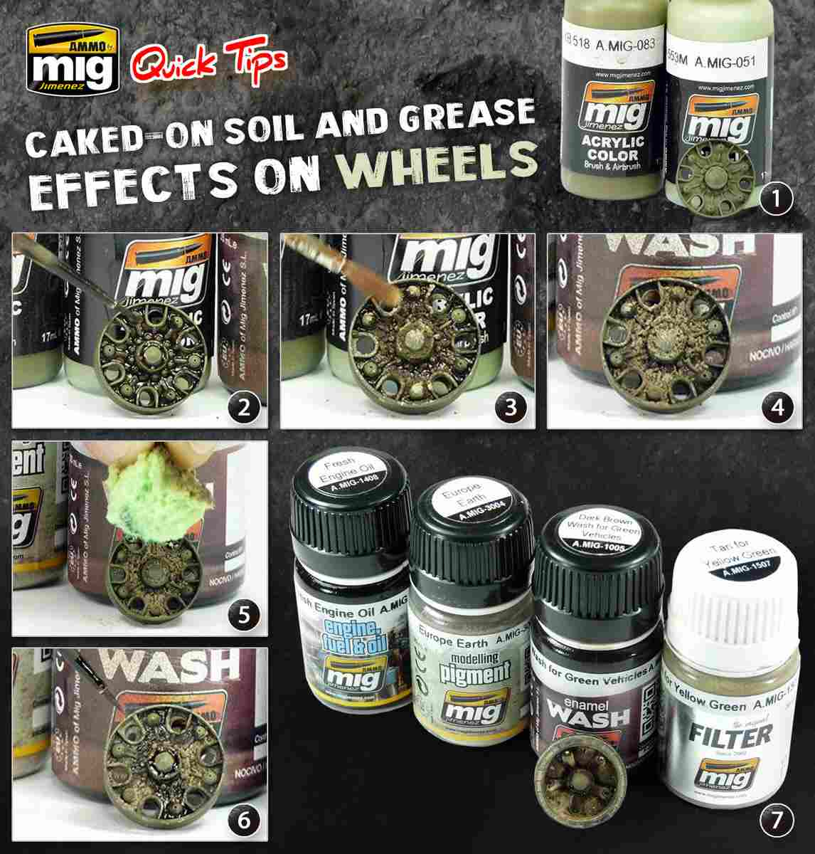 Ammo-by-Mig-Caked-Soil-effects Caked Soil and grease Effects on wheels Ammo by Mig Quicktip