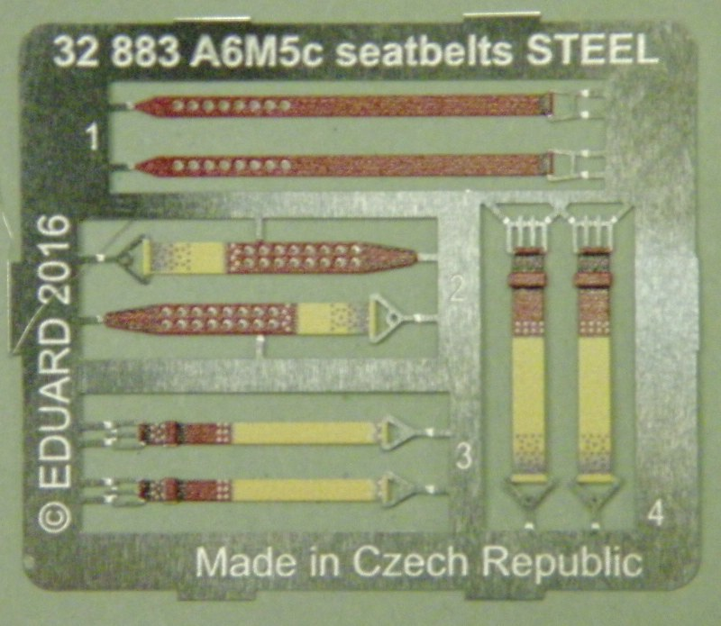 Eduard-32883-A6M5c-Seatbelts-STEEL-2 Eduards BigEd - Set für die Zero von Hasegawa BIG 3371