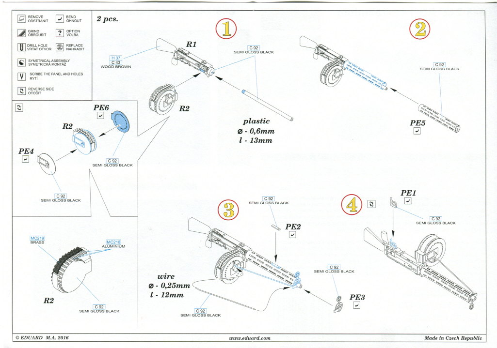 Eduard_MG14_Parabellum_06 MG-14 und MG-14/17 Parabellum WWI Gun - Eduard BRASSIN 1/48