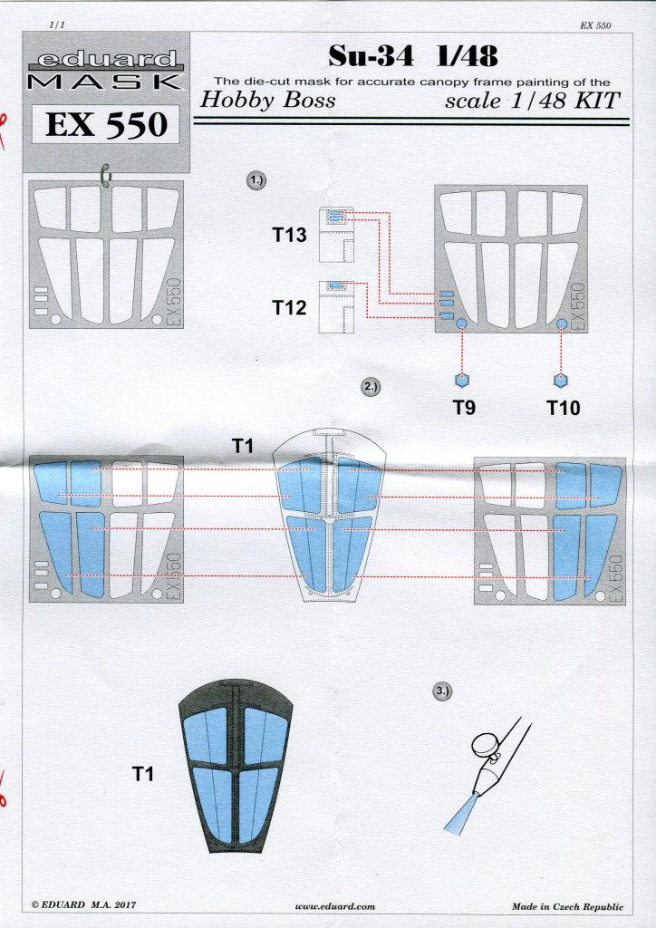 Eduard_Su-34_Mask_02 Eduard-Zubehör für die Su-34 von Hobby Boss TEIL 2 - 1/48