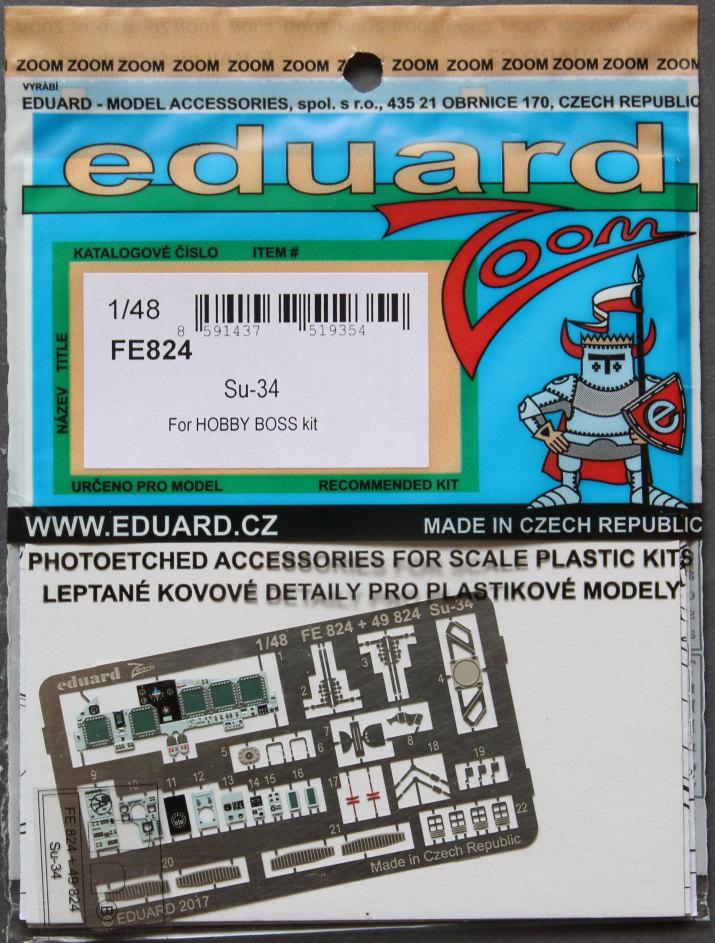 Eduard_Su-34_ZOOM_01 Eduard-Zubehör für die Su-34 von Hobby Boss TEIL 2 - 1/48