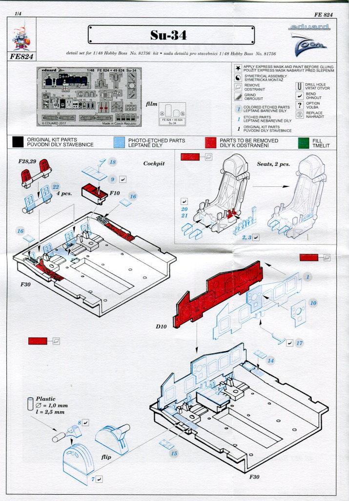 Eduard_Su-34_ZOOM_02 Eduard-Zubehör für die Su-34 von Hobby Boss TEIL 2 - 1/48