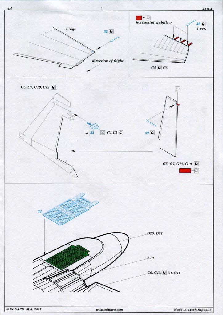 Eduard_Su-34_interior_02 Eduard-Zubehör für die Su-34 von Hobby Boss TEIL 1 - 1/48