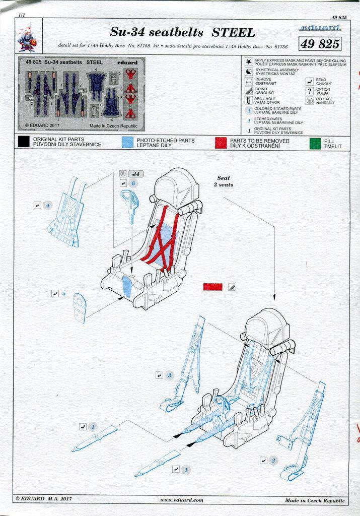 Eduard_Su-34_seatbelts_02 Eduard-Zubehör für die Su-34 von Hobby Boss TEIL 2 - 1/48