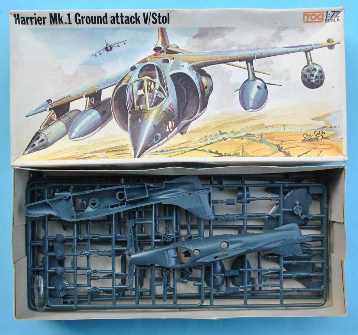 FROG-F273-Harrier-Mk.-I-22 Kit-Nostalgie: Harrier Mk. I in 1:72 von FROG