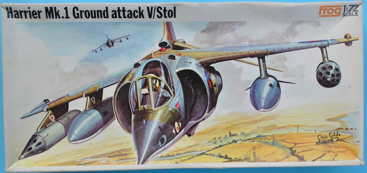 FROG-F273-Harrier-Mk.-I-23 Kit-Nostalgie: Harrier Mk. I in 1:72 von FROG