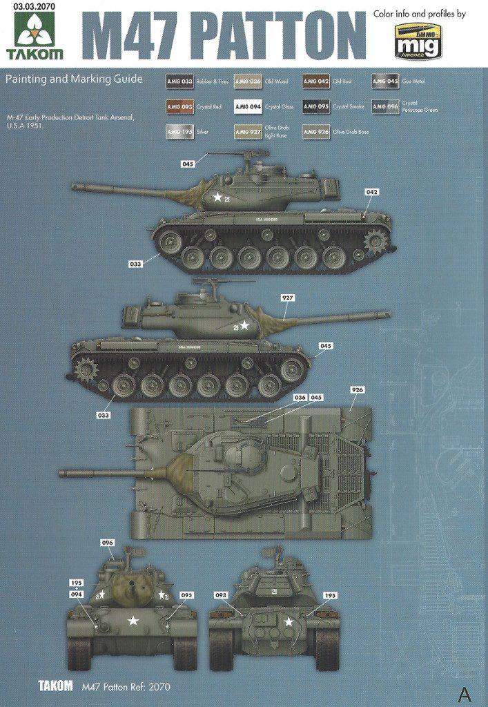 Markierungsvariante_A-707x1024 M47/G Patton 1:35 Takom (#2070)