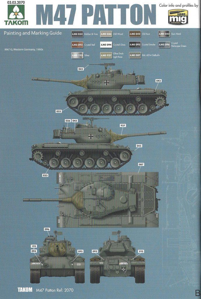 Markierungsvariante_B-690x1024 M47/G Patton 1:35 Takom (#2070)