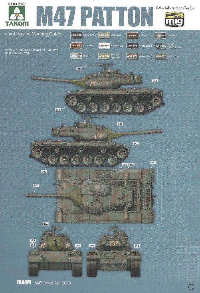Markierungsvariante_C-699x1024 M47/G Patton 1:35 Takom (#2070)