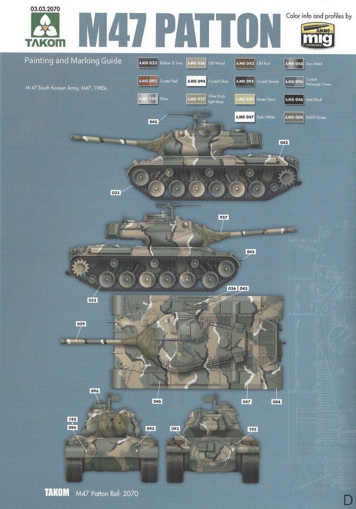 Markierungsvariante_D-718x1024 M47/G Patton 1:35 Takom (#2070)