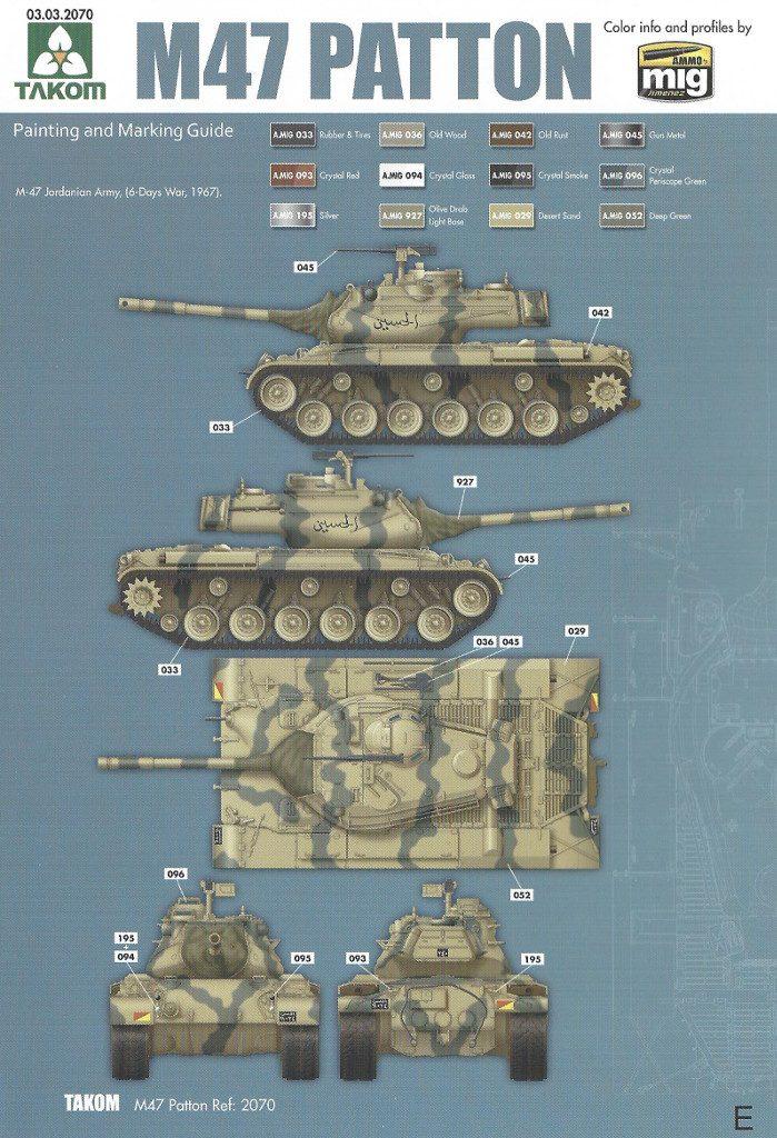 Markierungsvariante_E-699x1024 M47/G Patton 1:35 Takom (#2070)