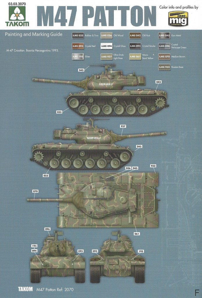 Markierungsvariante_F-694x1024 M47/G Patton 1:35 Takom (#2070)
