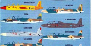 International Fouga Magister Selection 1:72 von Max Decals ( # MAX 7223 )