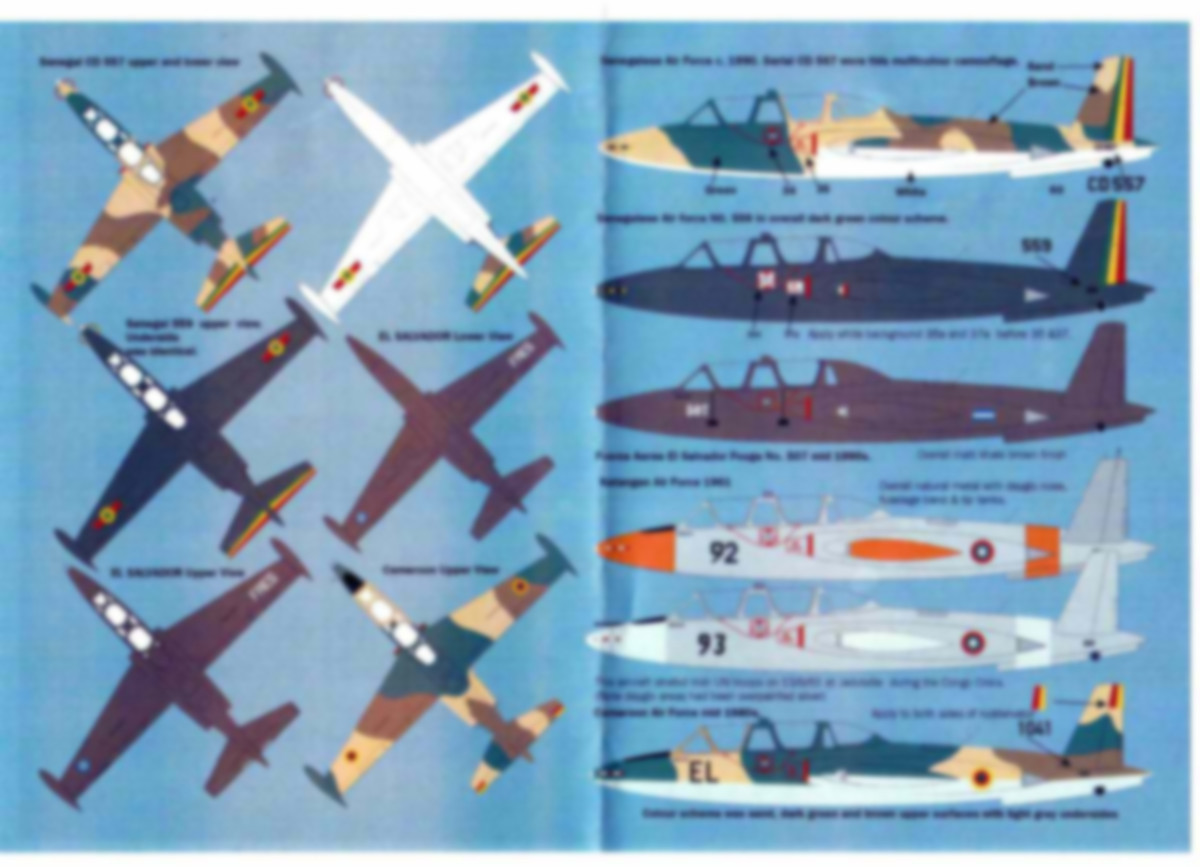 MaxDecals-MAX-7223-International-Fouga-Magister-4 International Fouga Magister Selection 1:72 von Max Decals ( # MAX 7223 )