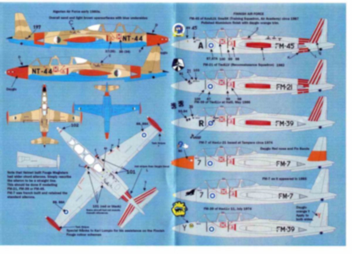 MaxDecals-MAX-7223-International-Fouga-Magister-5 International Fouga Magister Selection 1:72 von Max Decals ( # MAX 7223 )