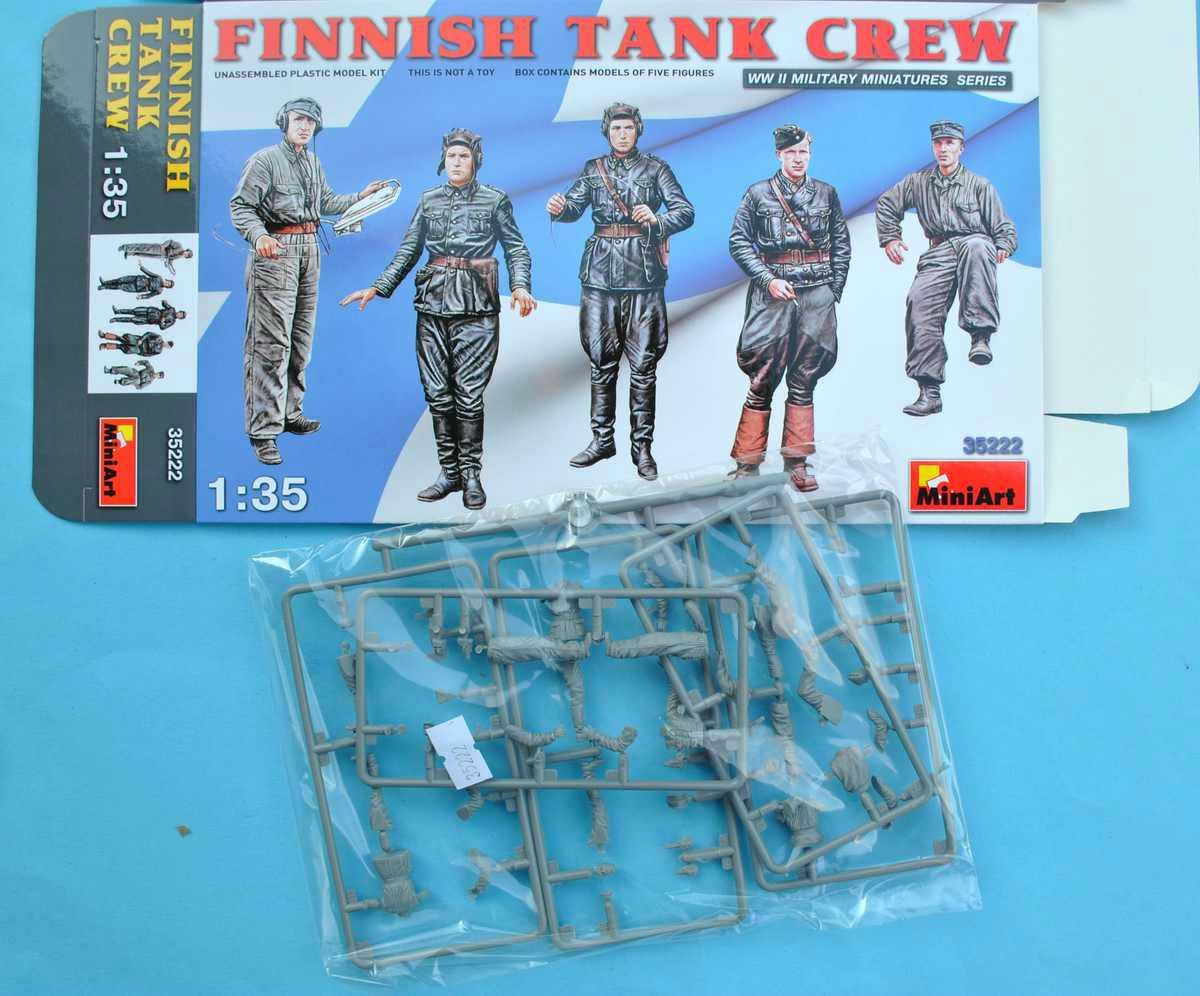 MiniArt-3522-Finnish-Tank-Crew-7 Finnish Tank Crew in 1:35 ( MiniArt 35222 )