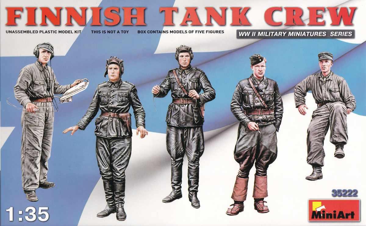 MiniArt-3522-Finnish-Tank-Crew-8 Finnish Tank Crew in 1:35 ( MiniArt 35222 )