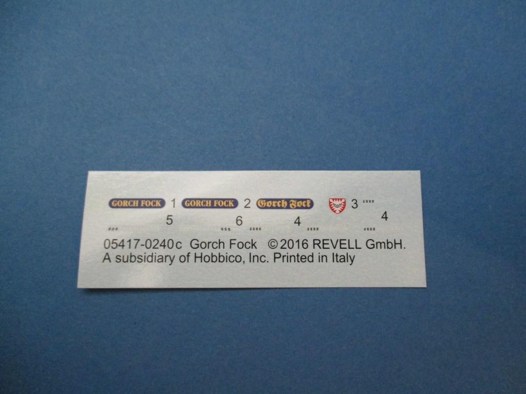Revell-05417-Gorch-Fock-Decals Segelschulschiff Gorch Fock von Revell 1:150 (# 05417)