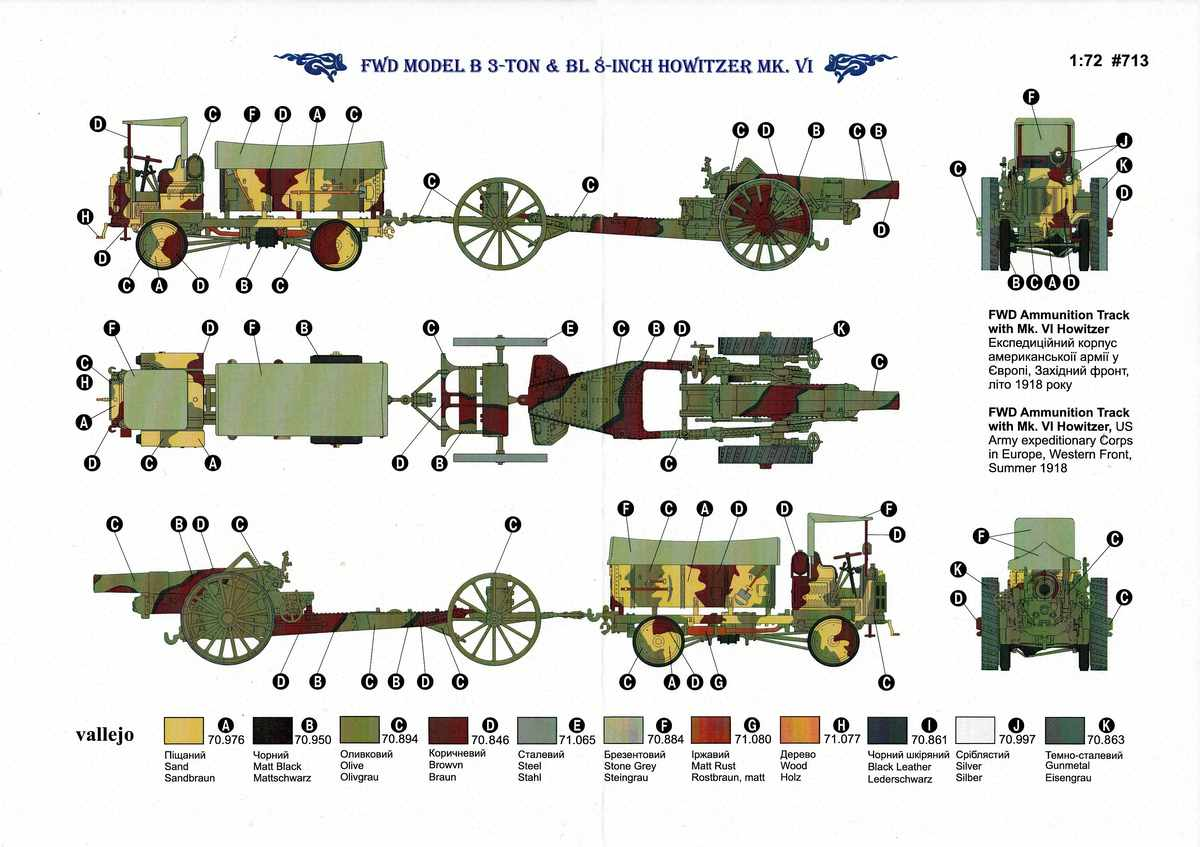 Roden-FWD-Model-B-BL-8-inch-Howitzer-14 FWD 3ton Model B und BL 3 inch Howitzer von Roden in 1:72