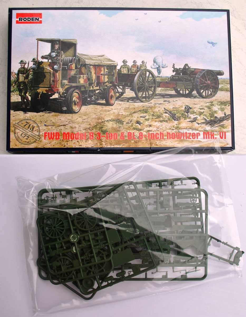 Roden-FWD-Model-B-BL-8-inch-Howitzer-15 FWD 3ton Model B und BL 3 inch Howitzer von Roden in 1:72