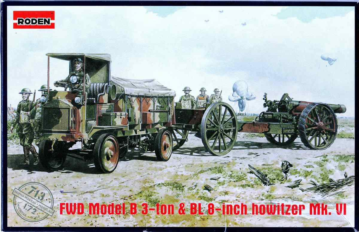 Roden-FWD-Model-B-BL-8-inch-Howitzer-7 FWD 3ton Model B und BL 3 inch Howitzer von Roden in 1:72