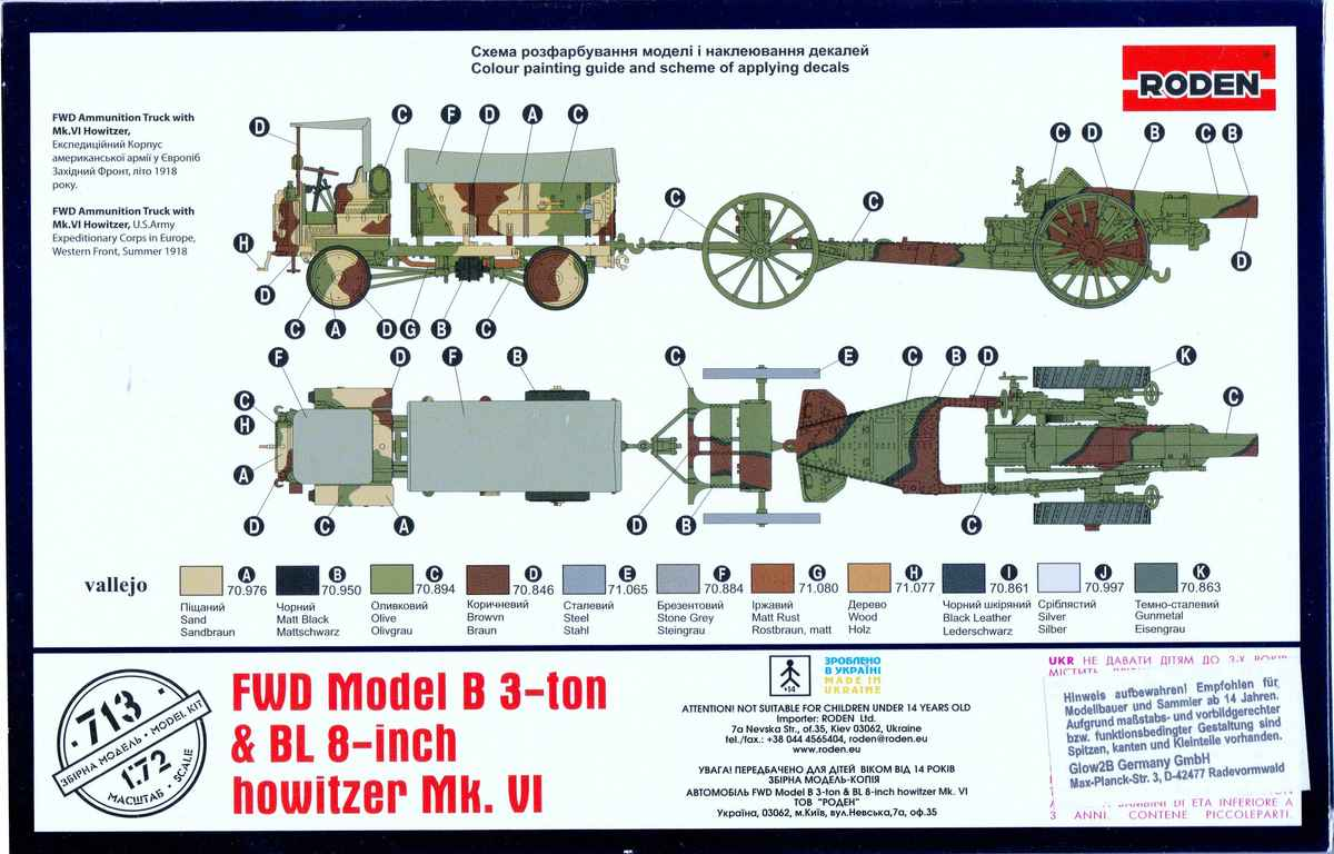 Roden-FWD-Model-B-BL-8-inch-Howitzer-9 FWD 3ton Model B und BL 3 inch Howitzer von Roden in 1:72