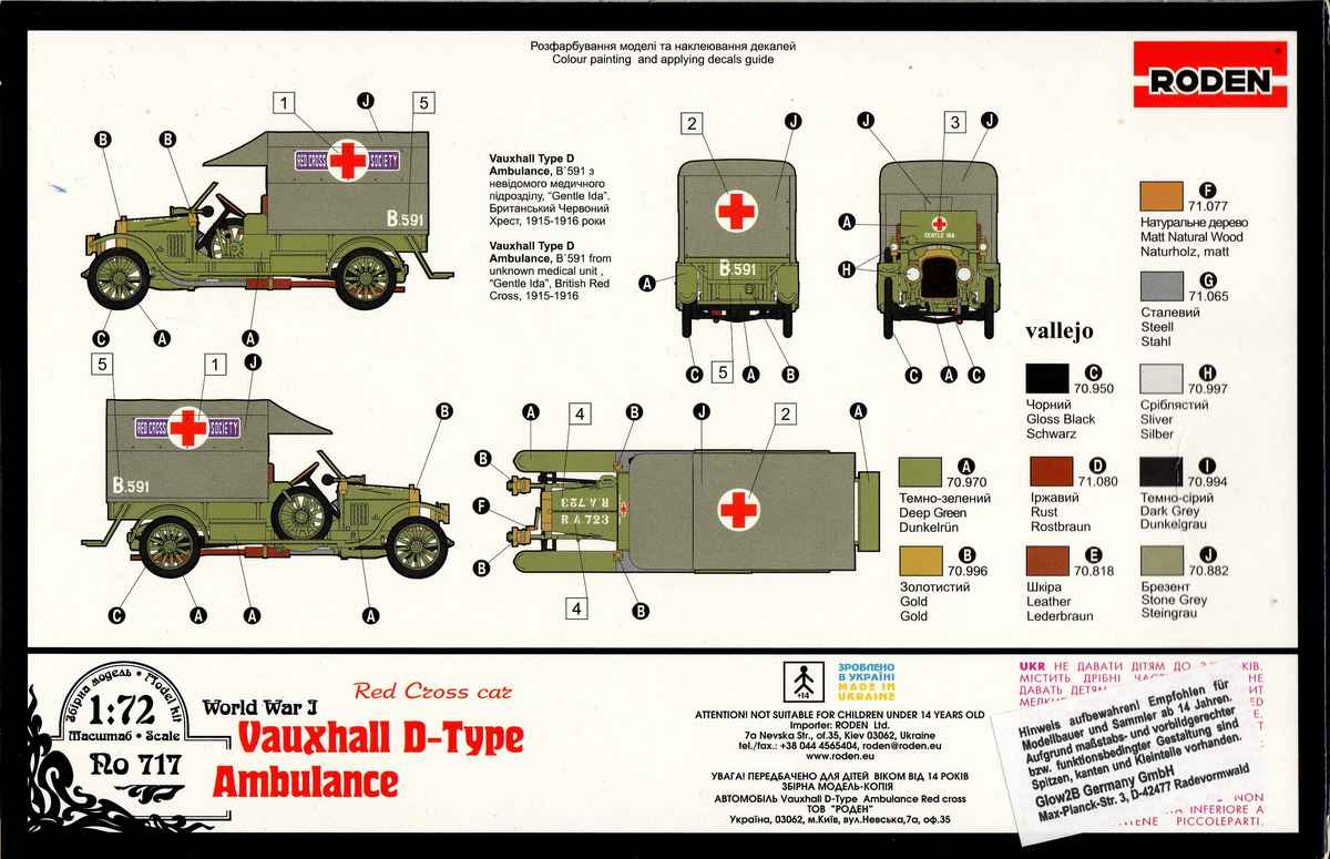 Roden-Vauxhall-D-Type-Ambulance-9 Vauxhall D-Type Ambulance in 1:72 von Roden