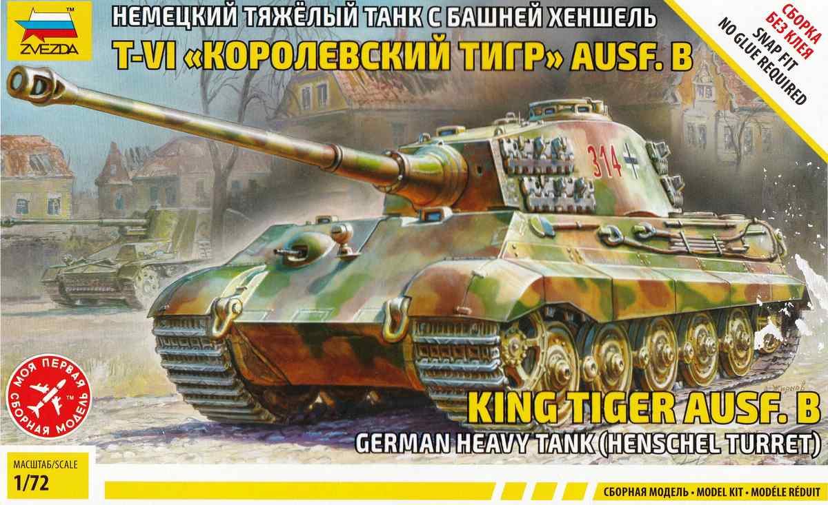 Zvezda-5023-Königstiger-Ausf.-B-mit-henschelturm-1 Königstiger Ausf. B (Henschelturm) in 1:72 von Zvezda ( 5023)