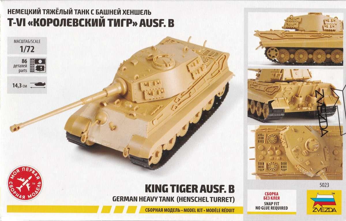 Zvezda-5023-Königstiger-Ausf.-B-mit-henschelturm-2 Königstiger Ausf. B (Henschelturm) in 1:72 von Zvezda ( 5023)